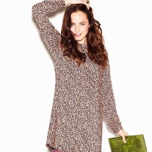 Loft Cheetah Print Shift Dress